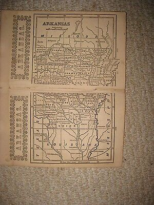 Superb Rare Early Antique 1851 Arkansas Map Hot Spring Little Rock Detailed Nr