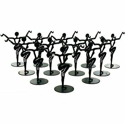 "12 Black Metal Earring Dancer Jewelry Showcase Display Stands 3.25"", New"
