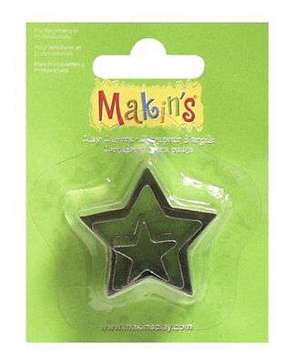Makin's Clay Metal Cutter Mold Set 3 Sizes Per Package  STARS  Cutters
