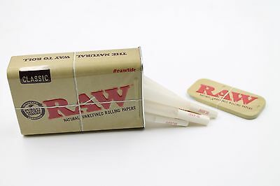 Raw 1 1/4 Organic Cones 15 count With Raw Slide Top Tin