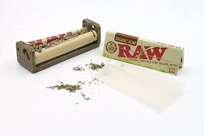 BUNDLE: RAW 79mm Hemp Plastic Rolling Machine + One Pack of Organic 1 1/4 Papers
