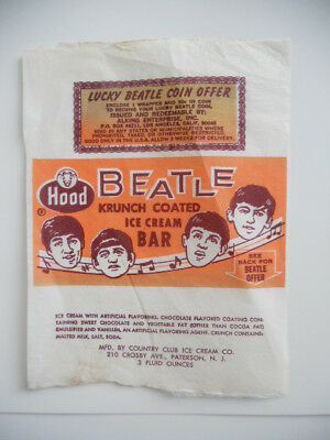 The Beatles very rare ice cream original wrapper 1965