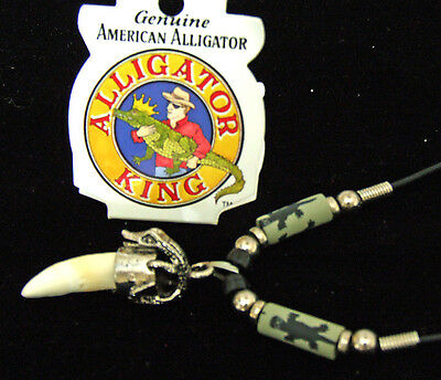 Alligator Tooth Necklace GT07 Swamp People Gator New Orleans Louisianna Cajun