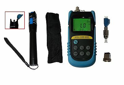 Optical Power Meter +6 to -70dBm W/ 10mW Visual Fault Locator Fiber Optic Cable