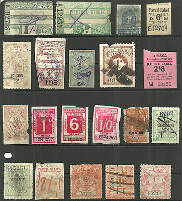 Selection 34 Different Great Britain Railway Letter Parcel/newspaper Stamps No 3