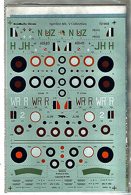 AEROMASTER 72-068 - DECALS 1/72 - SPITFIRE Mk V COLLECTION - NUOVO