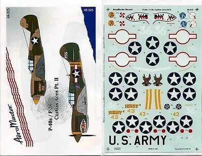 AEROMASTER 48-325 - DECALS 1/48 - P-40s/P-36: CURTISS ACES Pt. II - NUOVO
