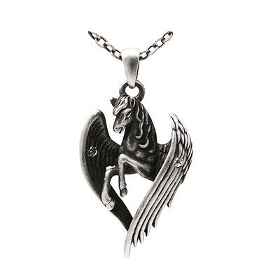 Pegasus Wings Horse Fly Soar Pendant Necklace Jewelry