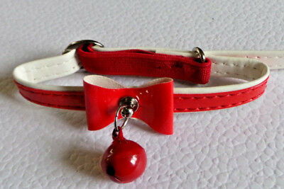 collier chat anti - étranglement noeud papillon rouge