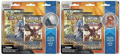 Pokemon TCG : Collector's Pin 3-Pack Blisters x2: Mega Gardevoir and Volcanion