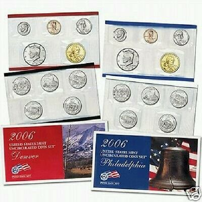 2006 Us Mint-P&d Uncirculated 20 Coin Set~~New Satin~~