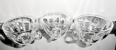 Federal COLUMBIA Crystal Cups, Set of 3