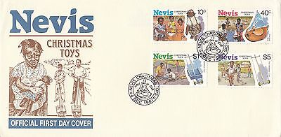(90359) CLEARANCE Nevis FDC Christmas Toys 4 December 1987