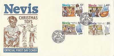 (90359) CLEARANCE Nevis FDC Christmas Toys - 4 December 1987