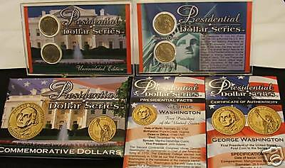 2007-P&d~~George Washington~~Commemorative Presidential Dollar Set~~Hsn Pack