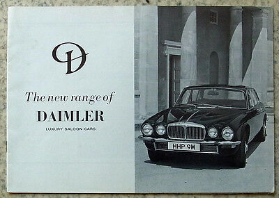 DAIMLER SERIES II SOVEREIGN & DOUBLE SIX Sales Brochure 1973-74 #ADC 58/973/50M
