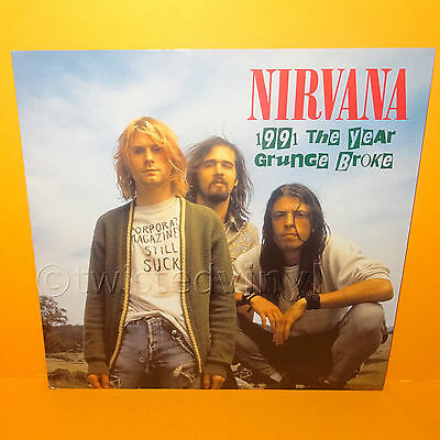 "2015 Nirvana - 1991 The Year Grunge Broke 12"" Lp Album Clear Vinyl Record Rare"