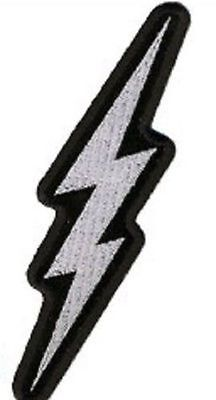 METALLIC LIGHTNING BOLT QUALITY Embroidered Motorcycle Biker vest Patch PAT-3139