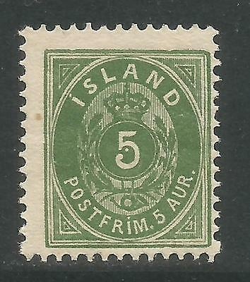 Iceland 1896-1901 5a green (24) MH