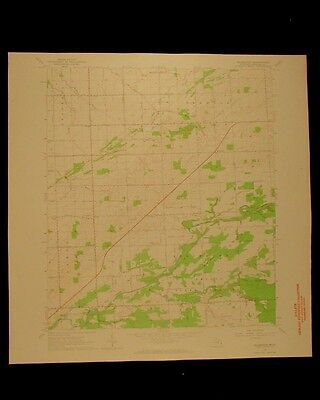 Ellington Michigan vintage 1964 original USGS Topographical chart