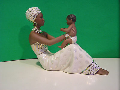 LENOX ADORING LOVE Ebony sculpture NEW in BOX with COA African American