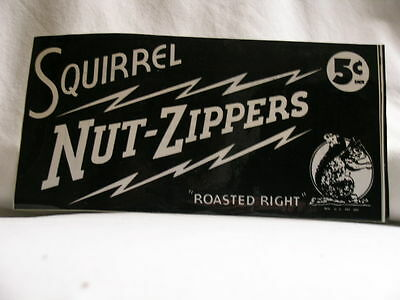 """SQUIRREL NUT ZIPPERS """"Hot"""" Mammoth ADA promo only STICKER"""
