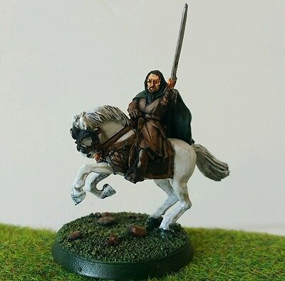KING Theoden (Warg Attack) well painted metal model LOTR Hobbit OOP