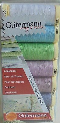 Gutermann Sew-All Thread Set/pack  'notting Hill' Collection   Pastel Colours