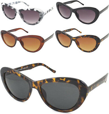 Vintage Rockabilly Oval Rounded Bold Ladies Cat Eye Sunglasses Women 1950's