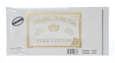 Crown Mill Pure Cotton 15 Karten u. 15 Briefumschläge DIN Lang (DL)
