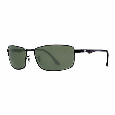 Ray Ban RB 3498 002/9A 64mm Black Polarized Classic Green G-15 Sunglasses