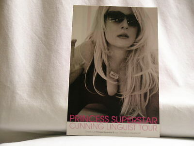 PRINCESS SUPERSTAR Cunning Linguist Tour 2002 Rapster/ !K7 promo only POST CARD