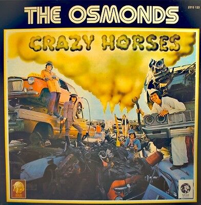 ++THE OSMONDS crazy horses LP MGM hold her tight/we all fall down VG++