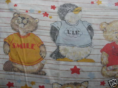 SHIRT TALES Hallmark FITTED & FLAT Bed Sheets - vintage