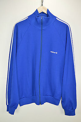 vtg 80s ADIDAS OLDSCHOOL CASUALS RETRO TRACK JACKET TRACKSUIT TOP SIZE 186 XL