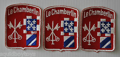 lot of 3 LE CHAMBERLIN vintage College / School vintage PATCH 1960s