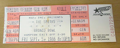 1986 The Smiths Bronco Bowl Dallas Concert Ticket Stub Morrissey How Soon Is Now