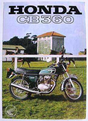 HONDA CB360 Motorcycle Sales Specification Leaflet Apr 1974 #50M 4/74
