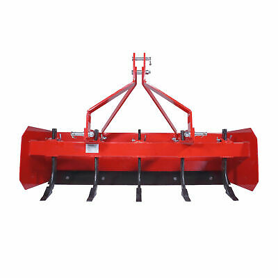 Titan 5' Box Blade Tractor Attachment Category 1 Cat 0 Scarifier Shank Teeth