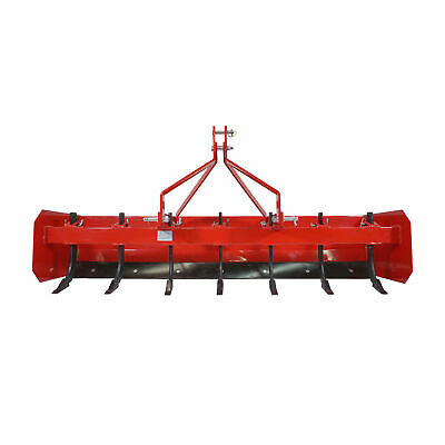 Titan 7' Box Blade Tractor Attachment Category 1 Cat 0 Scarifier Shank Teeth