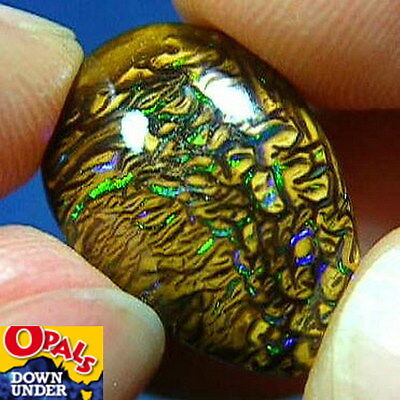 Flickering Greens * 12ct Natural Australian Solid Koroit Boulder Opal * Video