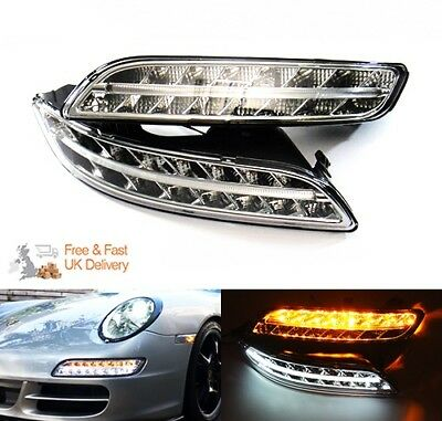 Porsche 997 Carrera 911 Gen I Clear LED Side Daytime Running Light DRL Indicator