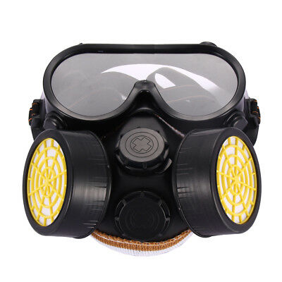 Industrial Gas Chemical Anti-Dust Paint Respirator Face Mask Eye Glasses Goggles