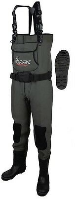 IMAX Challenge Chest Neo Waders Cleated All Sizes Sea Beach Fishing RRP £110