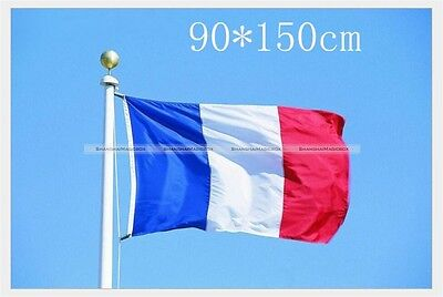 France/French Country National Flag 5' x 3'  Quality Fabric 150x90cm S3