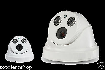 TELECAMERA DOME VIDEOSORVEGLIANZA 3,6mm 1000 TVL 2 LED ARRAY CCD IR PAL AP-6390