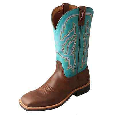 WTH0008 Twisted X Women's Turquoise Top Hand Cowgirl Boot Square Toe  NEW