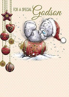 Me To You For A Special Godson Christmas Card Tatty Teddy Bear New Gift