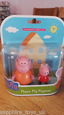 Peppa Pig Mummy Pig And Peppa Pig Figure - New And Carded