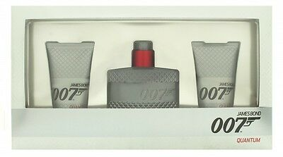 James Bond 007 Quantum Gift Set 50Ml Edt + 2 X 50Ml Shower Gel - Men's. New